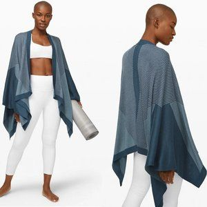 Lululemon Here For Serenity Wrap Night Diver Blue
